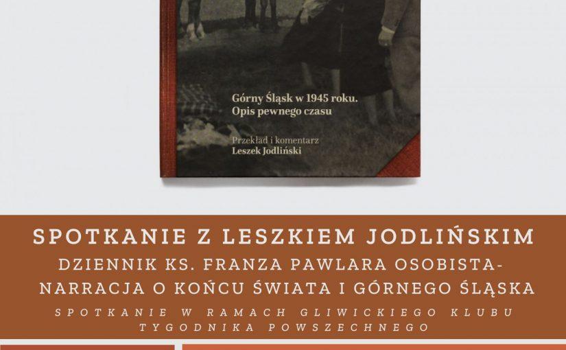 Tojuż wśrodę 7 października. Odzienniku księdza Franza Pawlara rozmawiamy wGliwicach