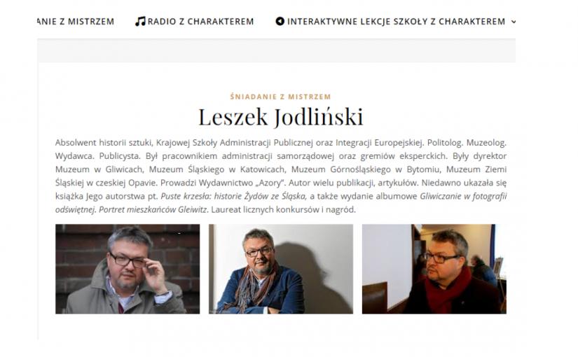 """""""Gliwiczanie wfotografii odświętnej"""" tematem rozmowy Leszka Jodlińskiego wŚniadaniu zmistrzem(30.03.2021)."""